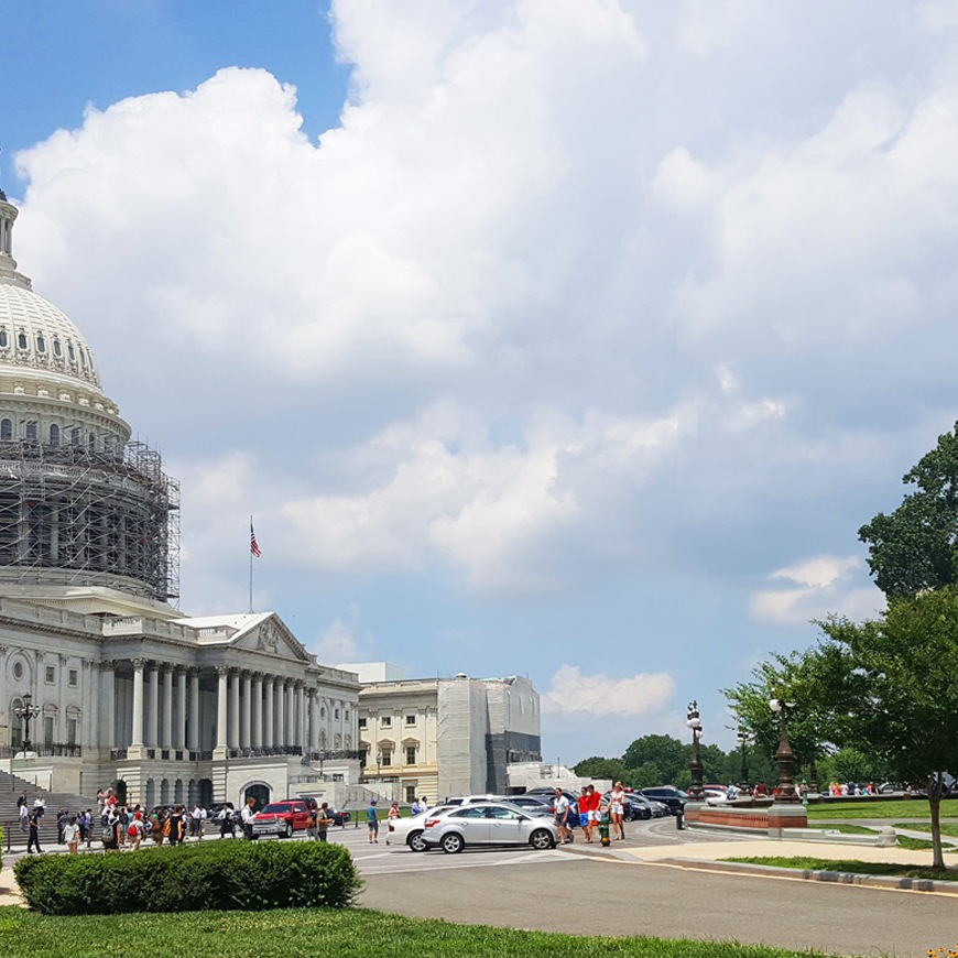 Photo of the U.S. Capitol Building with scaffolding